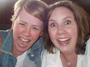 Sarah's eyebrows=DOWN, Martha's eyebrows=UP!