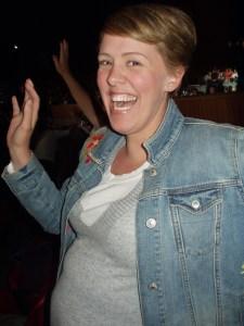Yup, that's the 9-month preggo dancing away!!